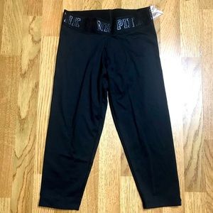 Women's Cropped Athletic Leggings by Pink